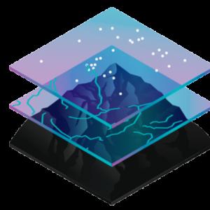 gis layered map