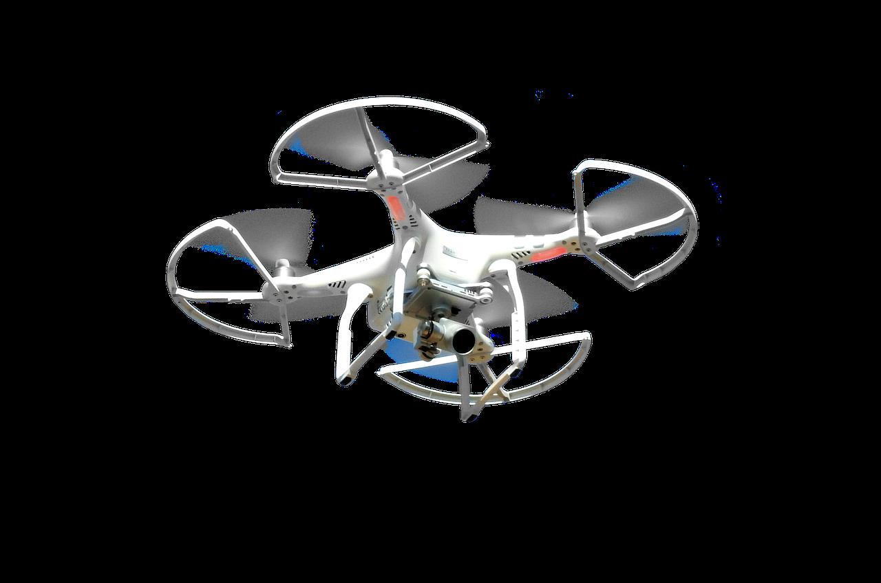 white quadra-copter drone
